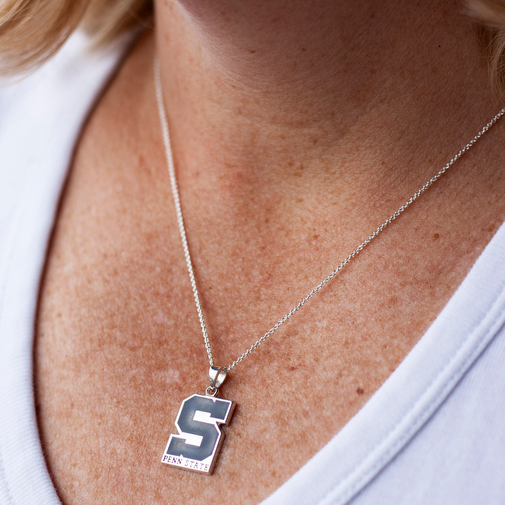 "Block ""S"" State Necklace"