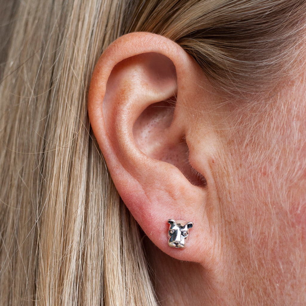 Small Nittany Lion Head Stud Earrings