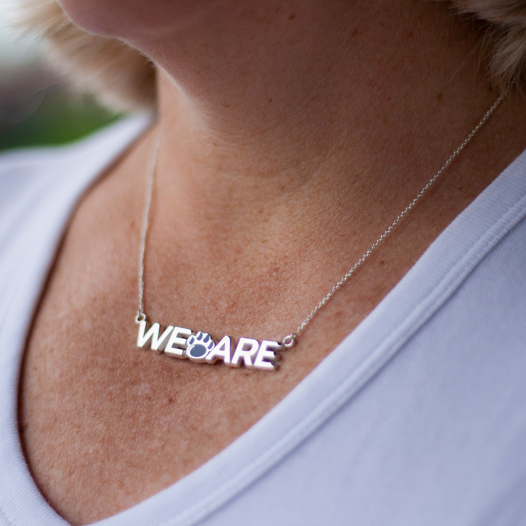"Sterling Silver Penn State ""WE ARE"" Necklace"