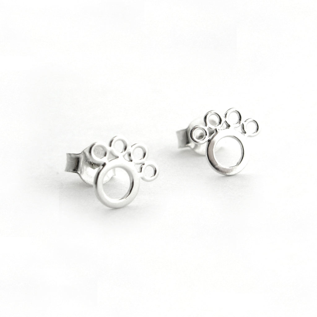 Open Paw Print Earrings