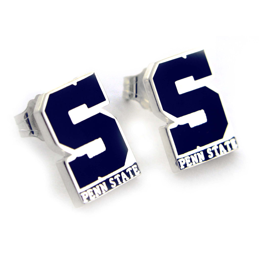 "Block ""S"" State Earrings"