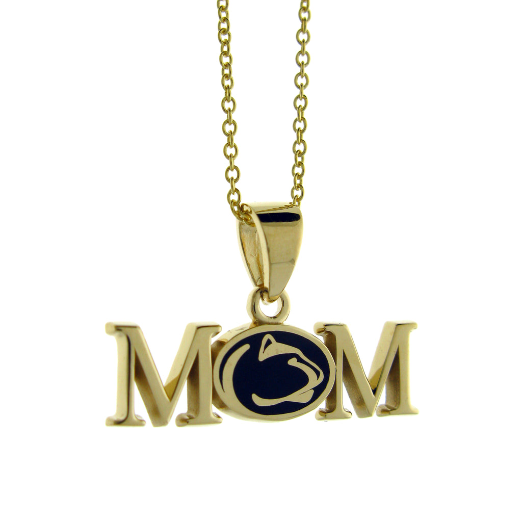 14kt Gold PSU Mom Necklace