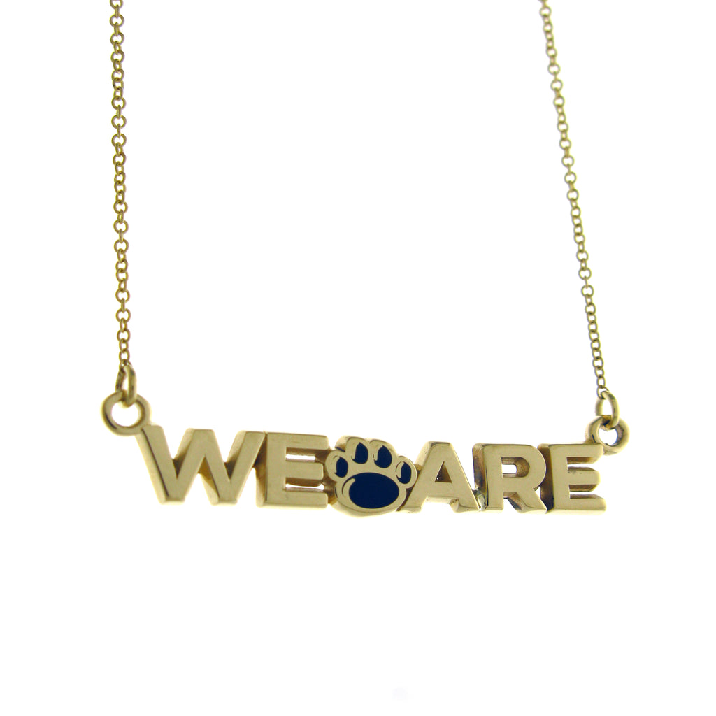 "Yellow Gold Small ""WE ARE"" Necklace"
