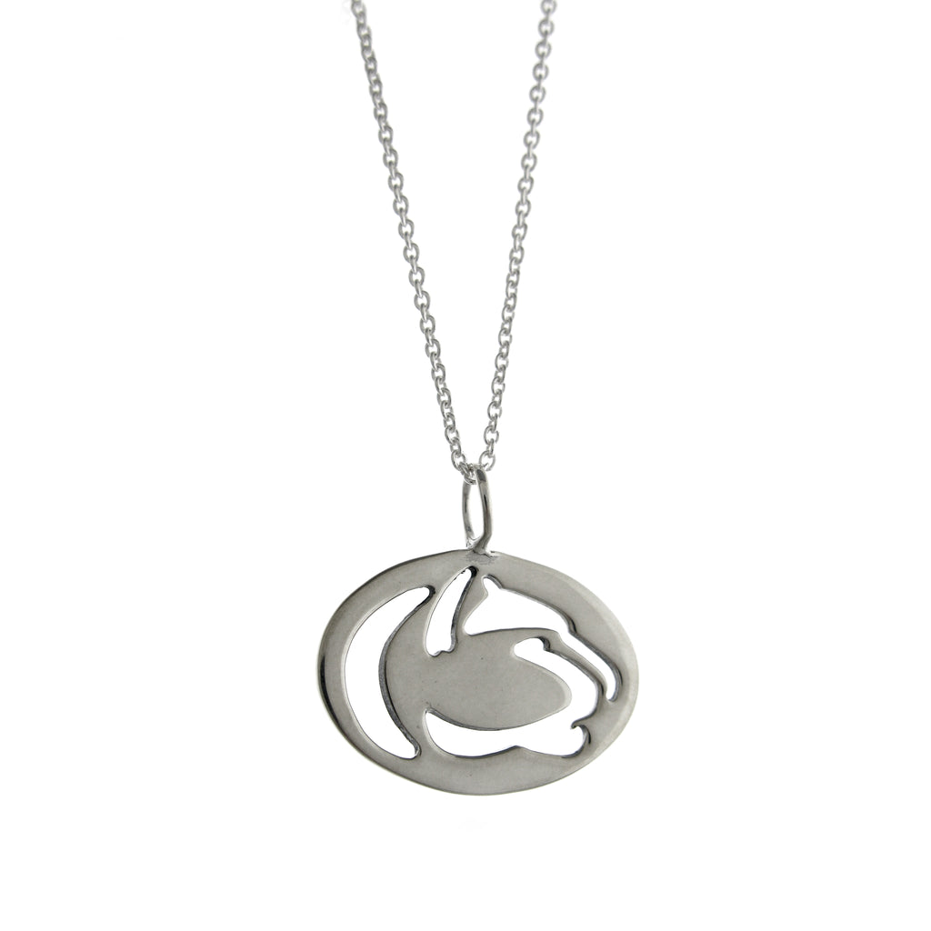 Penn State Cut Out Lion Logo Necklace-Small