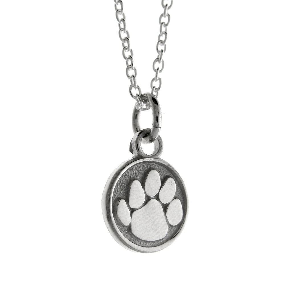 Sterling Silver Nittany Lion Paw Print Pendant