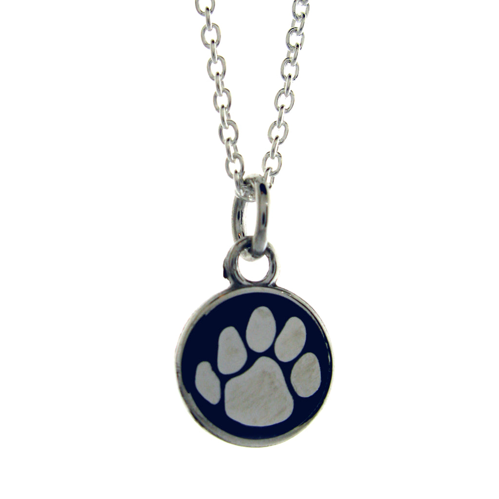 Nittany Lion Blue Paw Print Pendant