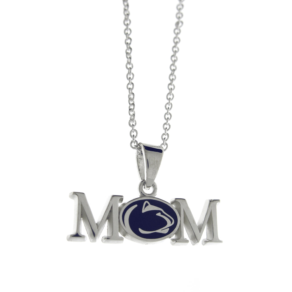 Sterling Silver PSU Mom Necklace