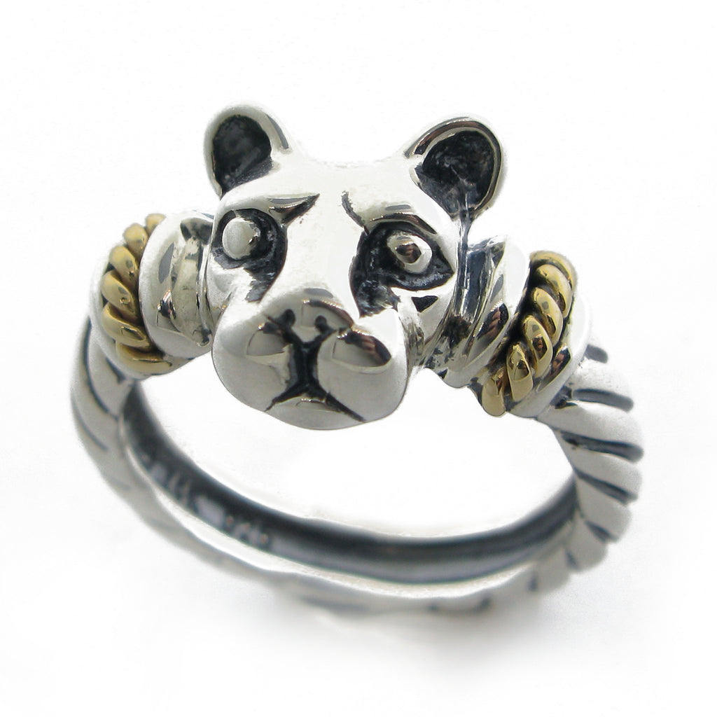"""Bold with Gold"" Lion Head Ring-Medium"