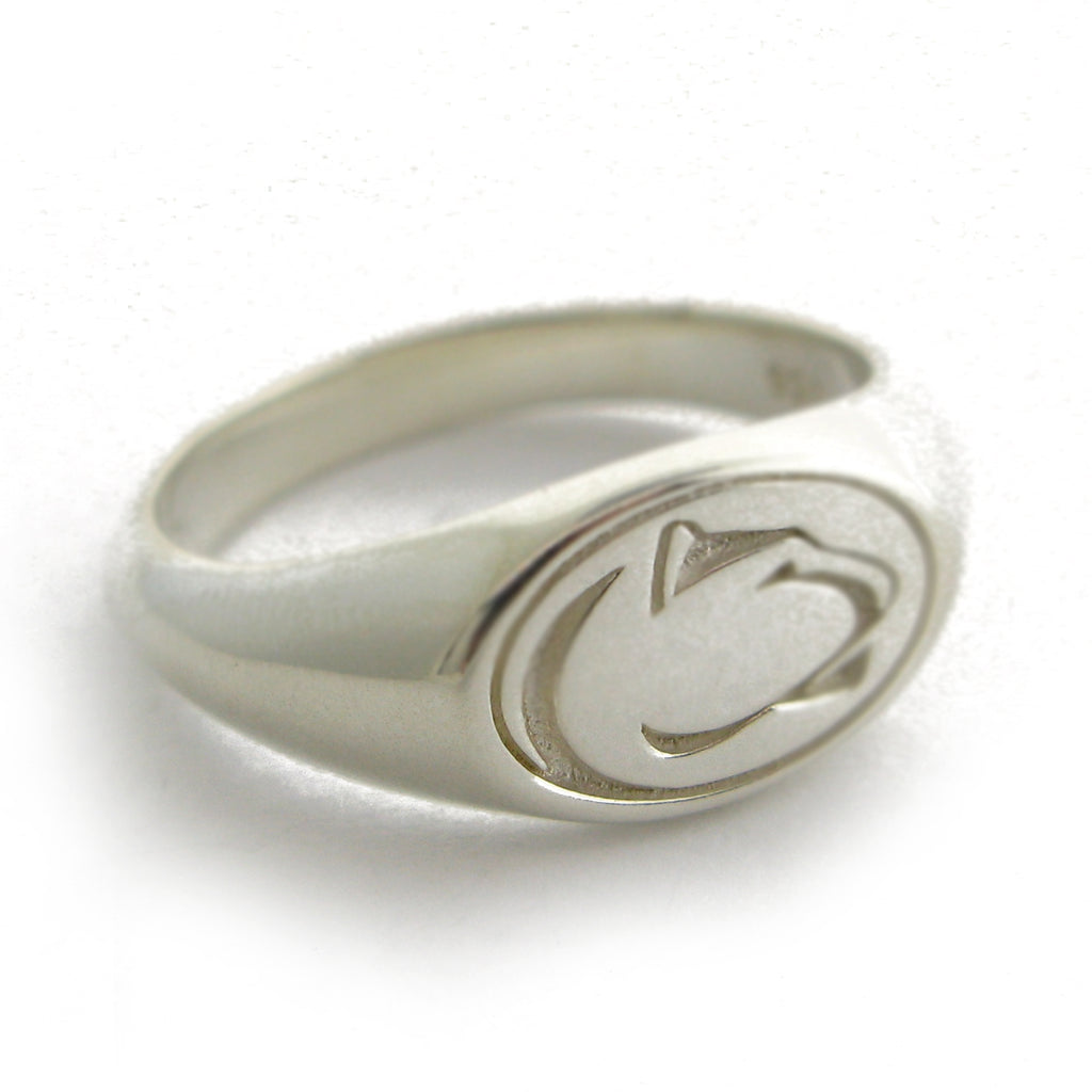 Small Lion Logo Signet Ring