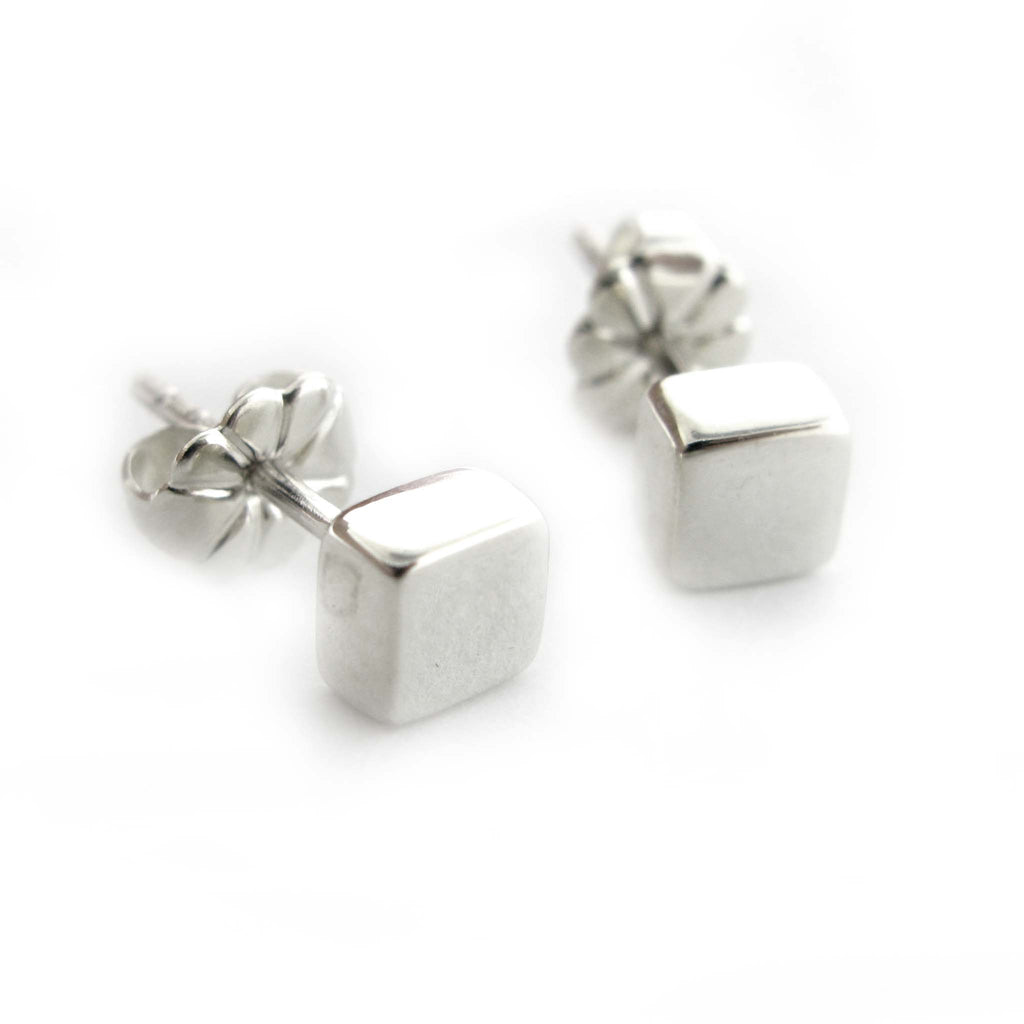 Sterling Cube Studs by Zina