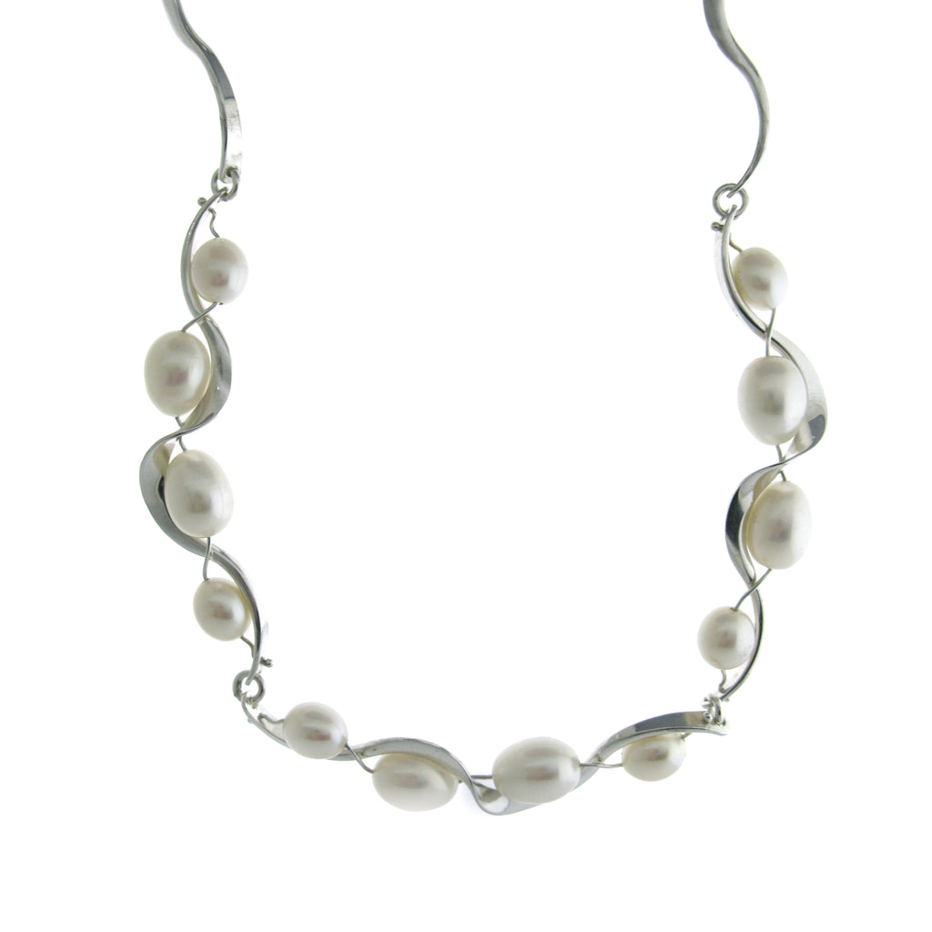 Freshwater Pearl Ruffle Necklace