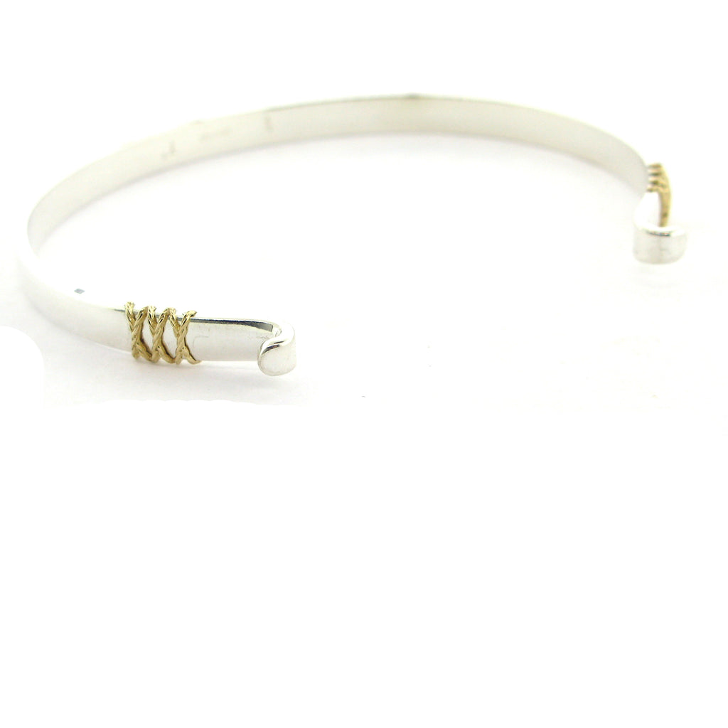 Two Tone Swap Top Bangle Bracelet-7""