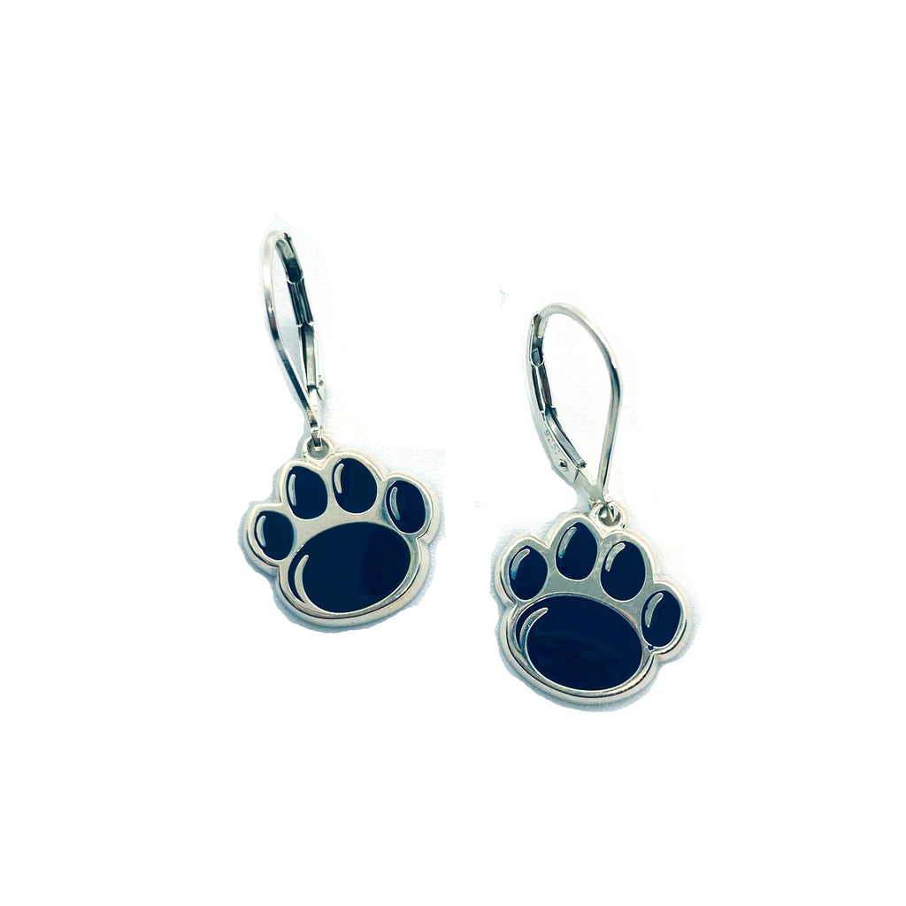 Official Blue Paw Print Dangle Earrings