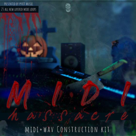 Pyrit Music: Midi Massacre: Midi & Wav Construction Kit - studiotrapsounds