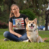 Independence Day Special Pet Print Women T-Shirt