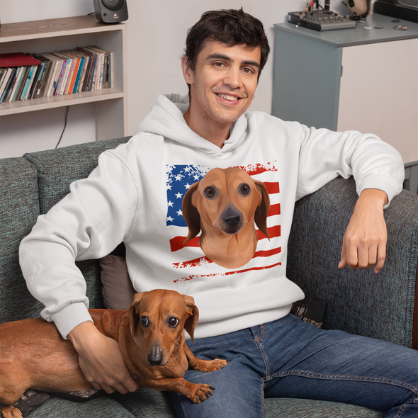 Independence Day Special Pet Print Men's Hoodie