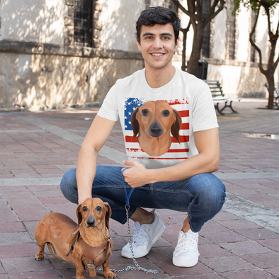 Independence Day Special Pet Print Men's T-Shirt