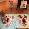 Custom Pet Print Beach Towel - Customer Photo