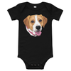 Custom Pet Print Baby One Piece Suite - Black