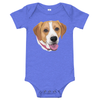 Custom Pet Print Baby One Piece Suite - Blue