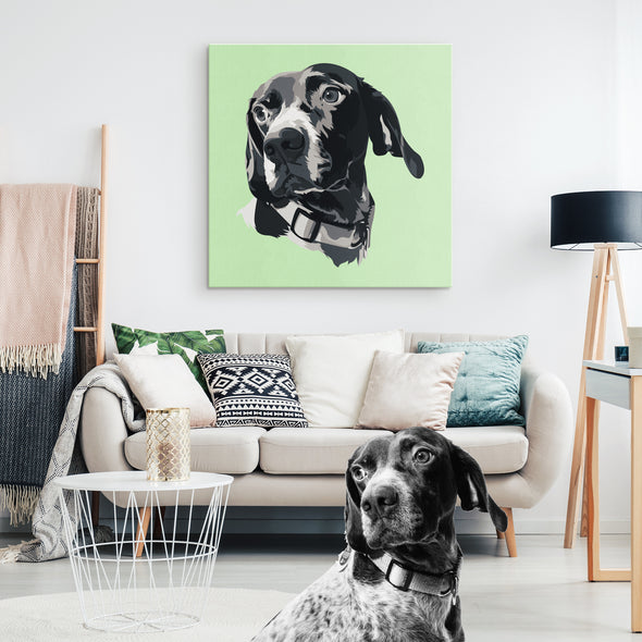 Custom Pet Print Canvas Aquamarine