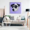 Custom Pet Print Canvas Purple Square