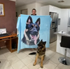 Pet Print Fleece Blanket with dogs | pet blanket | blanket dog | dog portrait | dog printing | pet lovers