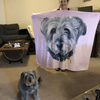 The Pets Print - Custom Pet Print Fleece Blanket with dogs | pet blanket | blanket dog | dog portrait | dog printing
