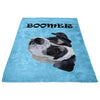Custom Pet Print Fleece Blanket With Text-Light Blue