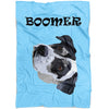 The Pets Print- Pet Blankets - Blanket With Dogs - Light Blue