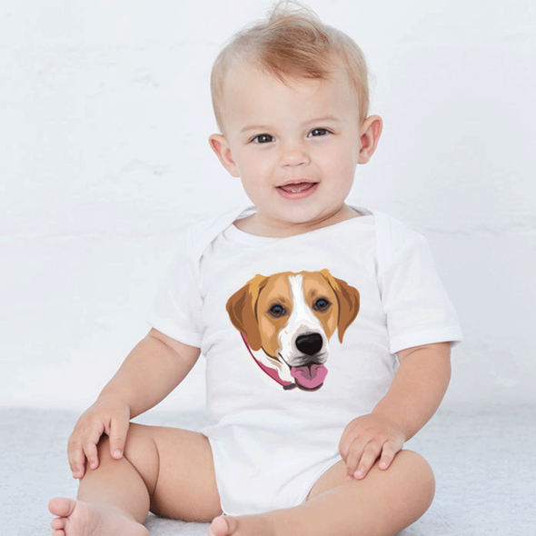 Custom Pet Print Baby One Piece Suite