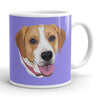 Custom Pet Print Coffee Mug - Purple