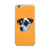 The Pets Print -dogs phone case - Orange Background