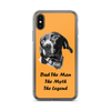 Custom Pet Print Phone Case With Text-Orange