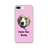 Custom Pet Print Phone Case With Text-Pink