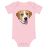 Custom Pet Print Baby One Piece Suite - Pink