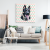 Christmas Special Custom Pet Print Canvas Polka dots