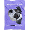 The Pets Print- Pet Blanket - Blanket With Dogs - Purple