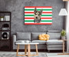 Christmas Special Custom Pet Print Rectangle Canvas Stripe