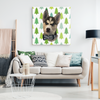 Christmas Special Custom Pet Print Canvas white Green Tree