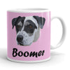 Custom Pet Pet Print Coffee Mug With Text-Pink