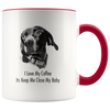 Custom Pet Print Accent Coffee Mug