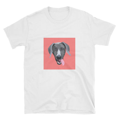 Men's White Custom Pet Print T-Shirt