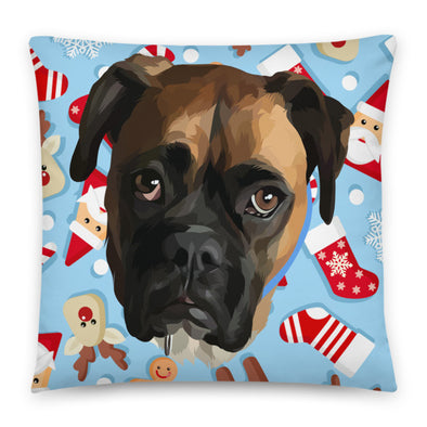 Special Background Custom Pet Print Throw Pillow