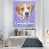 Custom Pet Print Tapestry