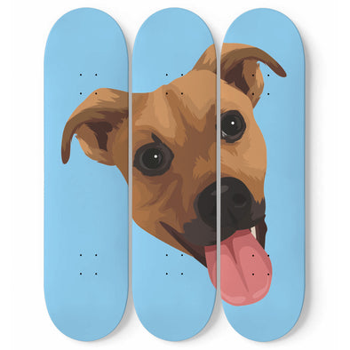 Custom Pet Print Wall Art Skateboards
