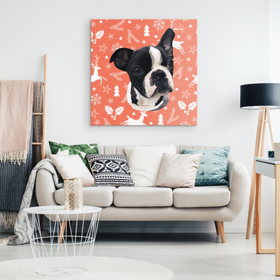 Christmas Special Custom Pet Print Canvas Deer