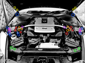 Nissan 350Z (2003-2008) engine bay kit