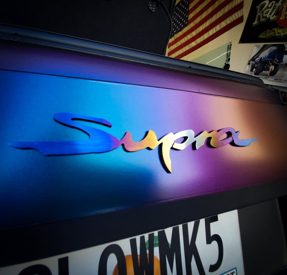Supra A90 emblems / badges