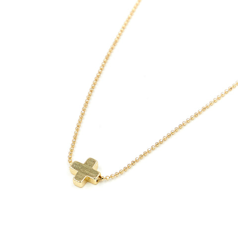 """Live Like Bella"" Dainty Cross Necklace"